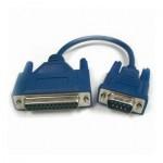 AT-Adapter, 9-pol. Sub-D Stecker / 25-pol. Sub-D Buchse, mit kurzem Kabel