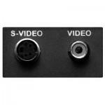 Multimedia Video Kombimodul für EVOline Port / Dock, 1 x 4-pol. Mini-DIN / 1 x Cinch Buchse, 3 m Anschlusskabel